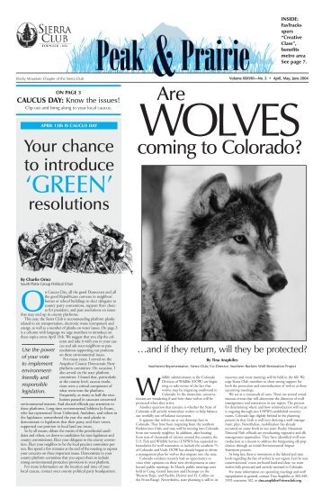 April/May/June 2004 (pdf) - Sierra Club Rocky Mountain Chapter