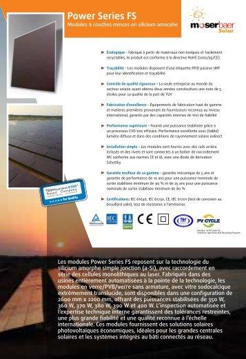 Power Series FS - Moser Baer Solar Limited