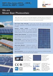 We are Moser Baer Photovoltaic - Moser Baer Solar Limited