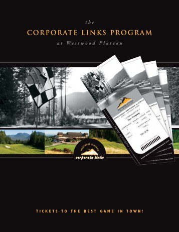 corporate links program - Westwood Plateau Golf and Country Club