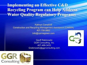 Implementing an Effective C&D Recycling Program can Help ...