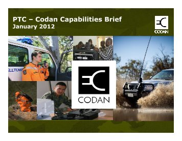 PTC – Codan Capabilities Brief
