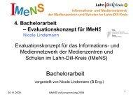 IMeNS Vollversammlung Bachelorarbeit - IMeNS - Lahn-Dill-Kreis