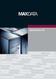 MAXDATA PC Handbuch Manual Ma- nuel Manuale Handleiding ...