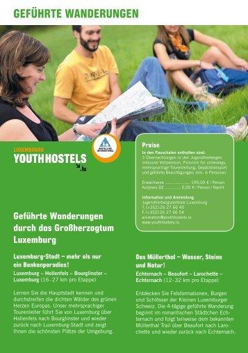 Geführte WanderunGen - Youth Hostels