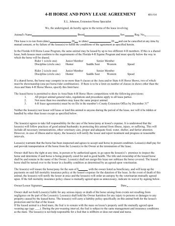 Sample Lease Agreement - Cortland County