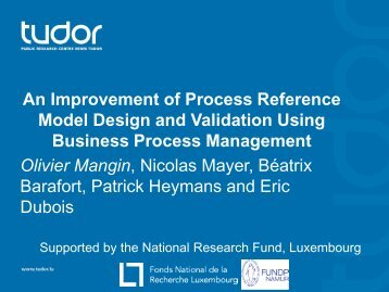 An Improvement of Process Reference Model ... - Spice Conference