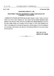 Extension of agency shop collective agreement to ... - nbcrfli.org.za