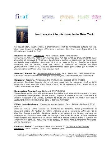 Les français à la découverte de New York