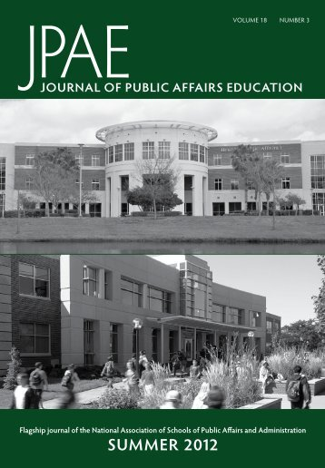 summer 2012 - National Association of Schools of Public Affairs and ...
