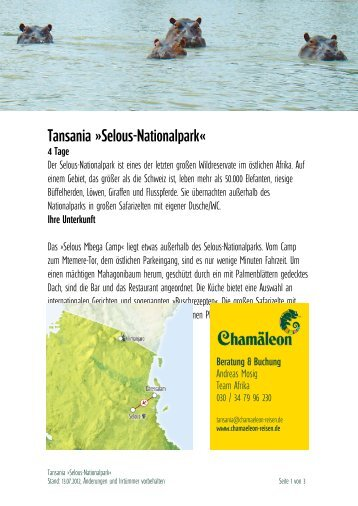 Tansania »selous-Nationalpark«
