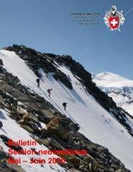 Bulletin Section neuvevilloise Mai – Juin 2010 - CAS La Neuveville