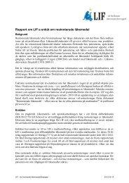 Rapporten om LIF-enkäten, 2013-03-14
