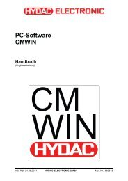PC-Software CMWIN - HYDAC
