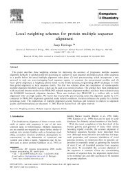Local weighting schemes for protein multiple sequence alignment