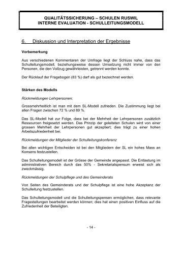 Dissertation diskussion der ergebnisse