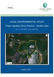 LOCAL ENVIRONMENTAL STUDY Tropic Gardens Drive Precinct ...