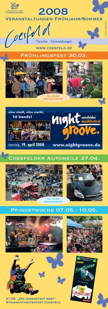 19. april 2008 eine stadt, eine nacht, 16 bands! - Stadt Coesfeld