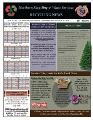 october to december 2012 - Northern Recycling and Waste Services