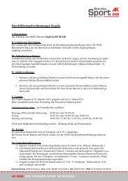 Durchführungsbestimmungen: Kegeln 2014 - Arbeiterkammer