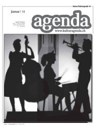 www.kulturagenda.ch Januar | 11