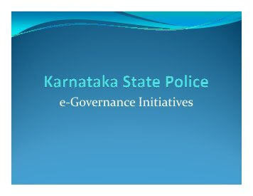 Core Committee Presentation Police - Government of Karnataka