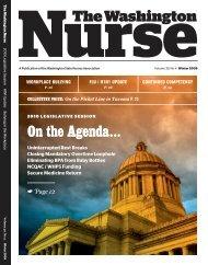 Winter 2009 - The Washington State Nurses Association
