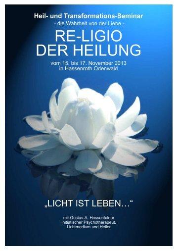 Seminar Hassenroth 16.-18. März 2012 - Gustav-A. Hossenfelder