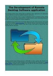 The Development of Remote Desktop Software application