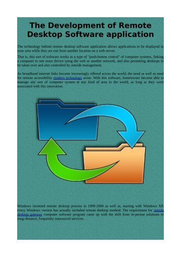 The Development of Remote Desktop Software application