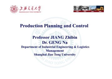 production planning control assignment Abstract: this paper deals with a short-term production plan of a single toolset  during a shift at a semiconductor fabrication plant we propose a.