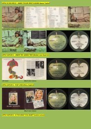 APPLE 5C 052-90112 - JAMES TAYLOR (FIRST ... - applerecords.nl