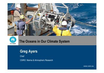 The Oceans in our Climate System [PDF 6.2MB] - CSIRO Marine ...