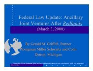 Federal Law Update: Ancillary Joint Ventures After ... - Honigman