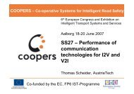 SS27 – Performance of communication technologies for ... - Coopers