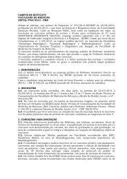 Edital - Faculdade de Medicina - Unesp