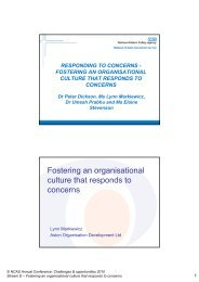 Fostering an organisational culture that responds to ... - Mentoring