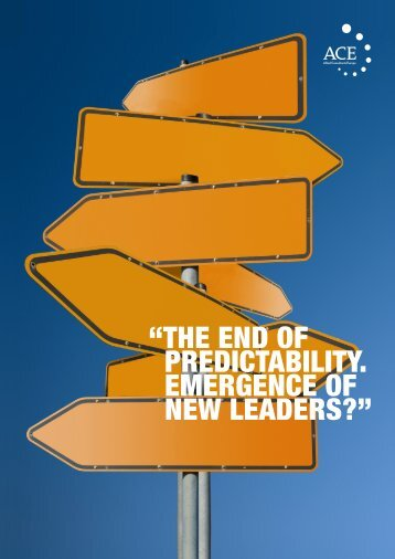 the end of predictability. emergence of new leaders? - ACE