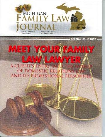 FAMILY LAW& - Honigman