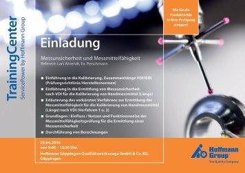 Einladung TrainingCenter ServicePo - Perschmann-Calibration.de