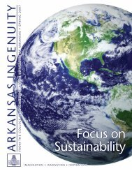 Focus on Sustainability - College of Engineering - University of ...
