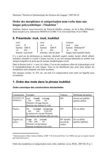 Exemplier en pdf - Histoire des théories linguistiques