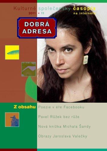 DA 11/2011 - Dobrá adresa