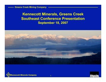 Greens Creek Mining Company - Southeast Conference