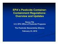 EPA's Pesticide Container- Containment Regulations: Overview and ...