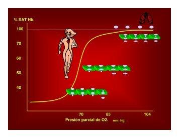 SAT Hb. Presión parcial de O2. 85 60 - Masvida