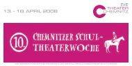 Progamm der 10. Chemnitzer Schultheaterwoche
