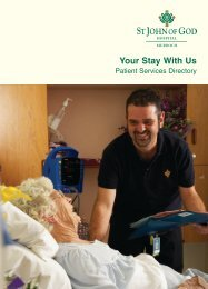 Patient Services Directory - St John of God Health Care
