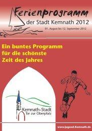 Anmeldeschein Ferienprogramm 2012 - Stadt Kemnath