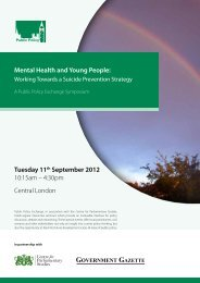 Mental Health and Young People: Tuesday 11th September ... - G:up